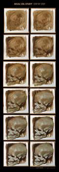 Skull oil study III, step by step. by JeffStahl
