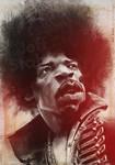 Jimi Hendrix, by Jeff Stahl by JeffStahl