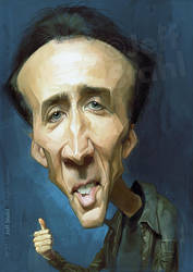 Nicolas Cage, by Jeff Stahl by JeffStahl