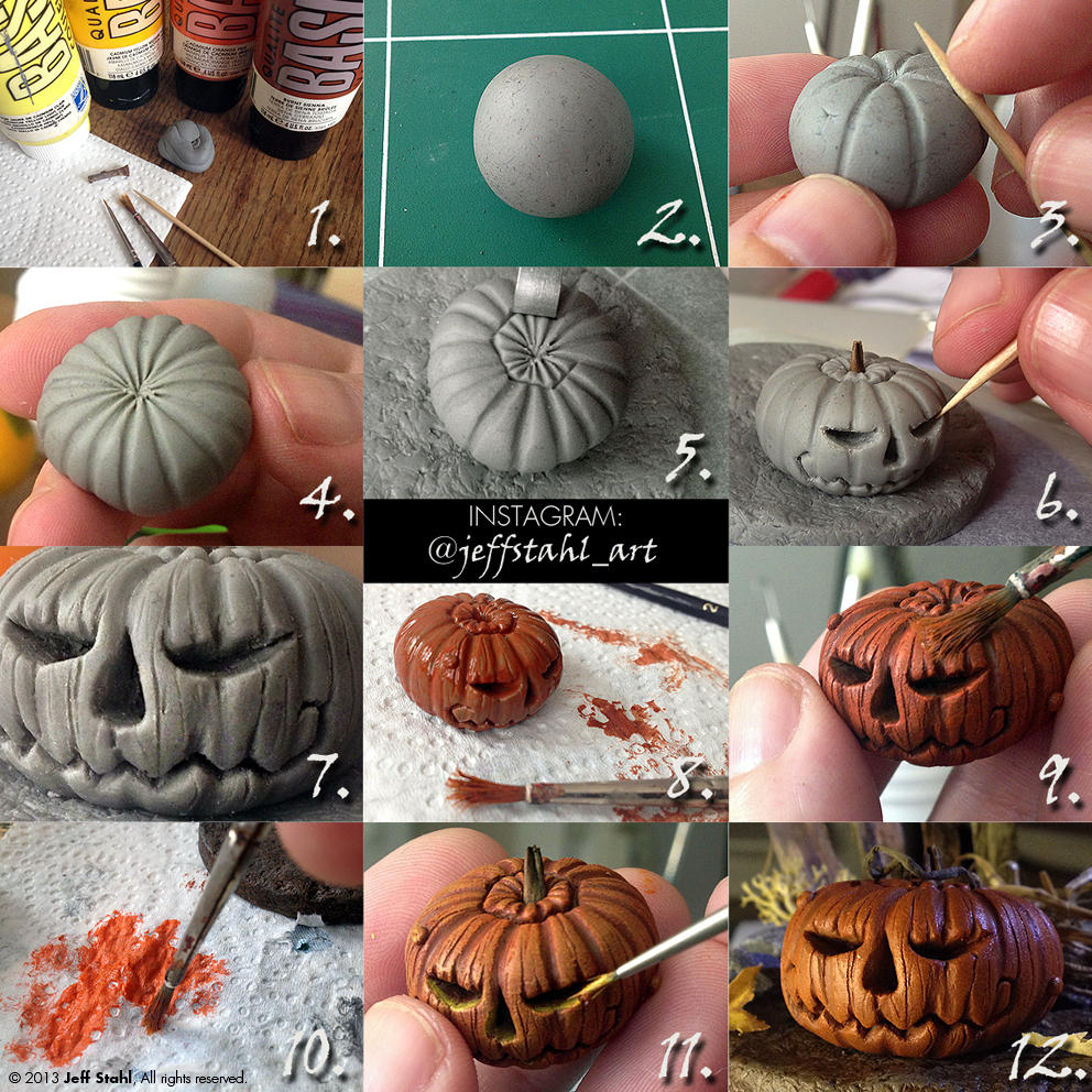 TUTORIAL : clay pumpkin by JeffStahl