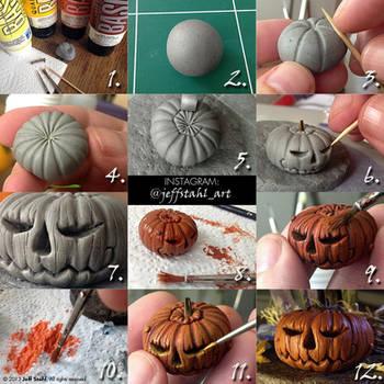 TUTORIAL : clay pumpkin by JeffStahl