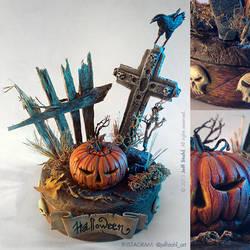 Halloween handmade miniature diorama by JeffStahl