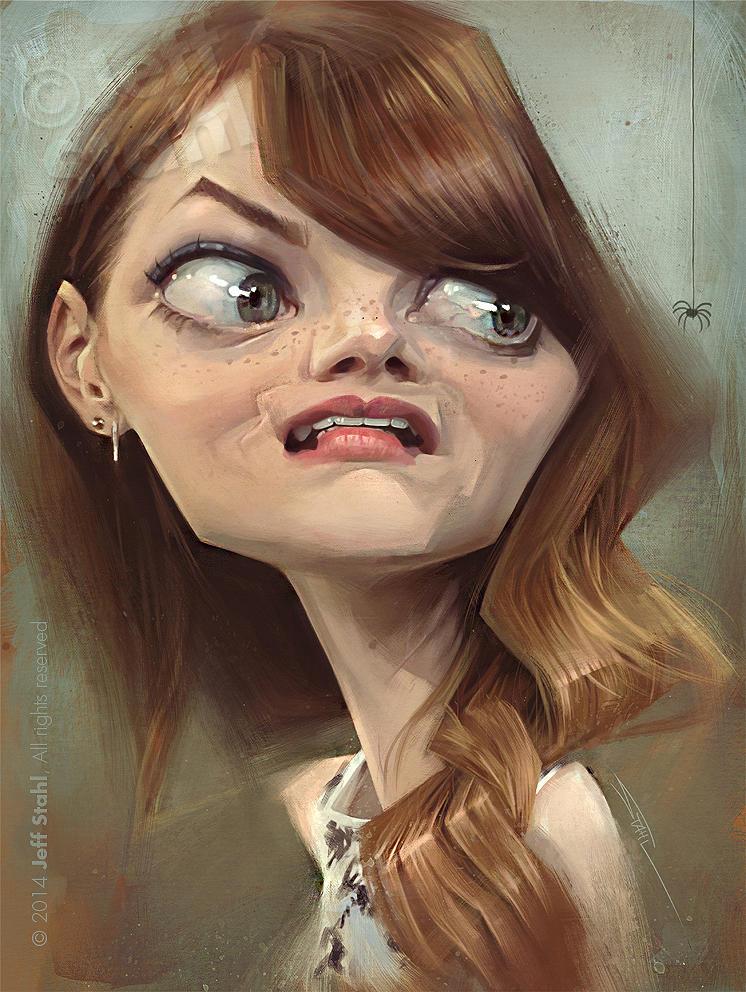 Emma Stone, by Jeff Stahl by JeffStahl