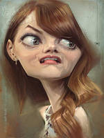 Emma Stone, by Jeff Stahl by JeffStahl