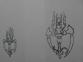 Work in progress keyblade concept by sheilded-key