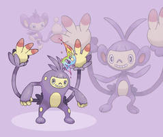 MEGA AMBIPOM (fan made) by delgalessio