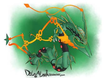 MEGA RAYQUAZA - fan made Artwork by delgalessio