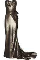 Platinum Lame Evening Gown by Vixen1978