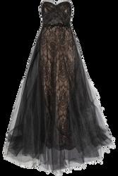 Flowing Black Dress png by Vixen1978
