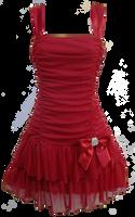 Flirty Short Red Dress PNG by Vixen1978