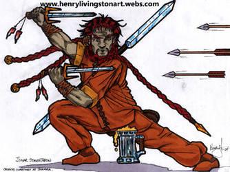 Jonar - Drunken Dwarven Master by ARCHEIENGEL