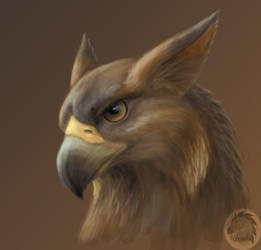 Gryphon portrait by Kivuli