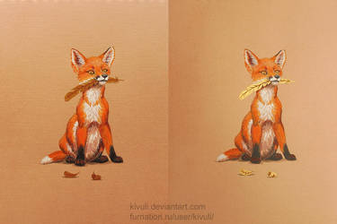 A fox cub's treasure by Kivuli