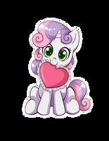 Sweetie Belle Heart Sticker by Autumn--Rush