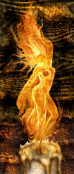 Dancing Candle Flame by freyah