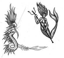 Two Mermaids by freyah