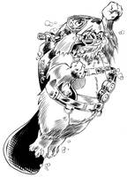 Scuba Beaver by jeh-artist