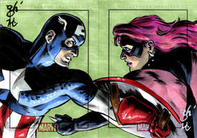 Capt. America vs. Diamondback by jeh-artist