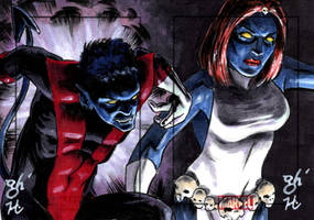 Nightcrawler vs. Mystique by jeh-artist