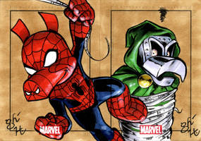 Spider-Ham vs. Ducktor Doom by jeh-artist