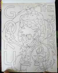 Goku: The Journey (Inked)  by animelifeawesome