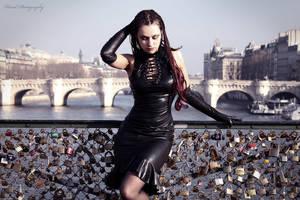Lady with padlock by AkashaGossow