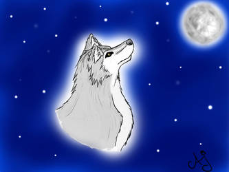 Wolf by WingedWhiteWolfHeart