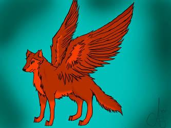 WingedWolf by WingedWhiteWolfHeart
