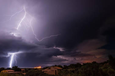 Thundery night by Westik