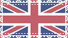 Lace British Flag Stamp by IdiosyncrARTic