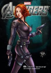 Avengers - Black Widow by godfathersky