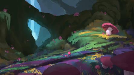 Mushroom Path by balloonwatch
