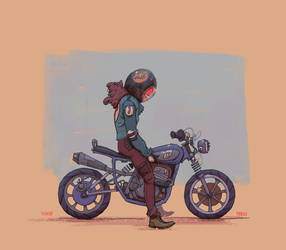 Motorcycle Girl by balloonwatch