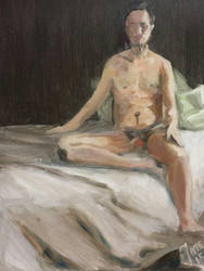 Raoul. Oil on panel. by JensMalmgren