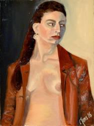 Francesca. Oil on panel. by JensMalmgren