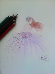 The girl in ball gown by reshma7595