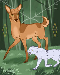 the deer and the fox by petravi