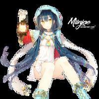 Render: Lantern girl by MiinJae