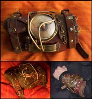 Steampunk Wristlet by SteamMouss