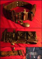Steampunk belt by SteamMouss