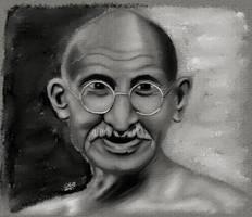Gandhi by GallienA