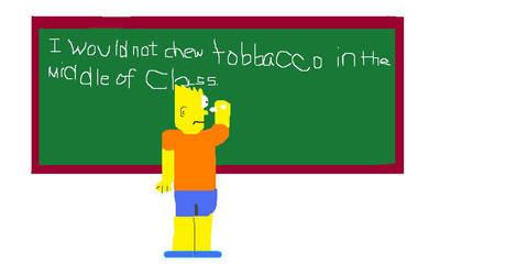 i would not chew tobbacco in.. by Snowangel22