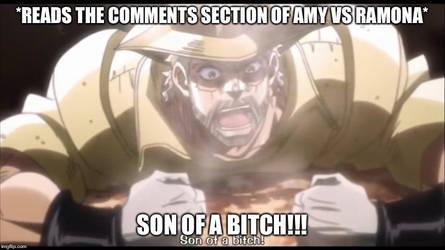 Amy vs Ramona/Joseph Joestar reaction meme by Wcher999