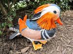 Paper Mache Mandarin Duck Sculpture by MyArtsDelight