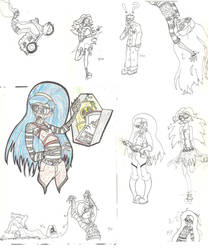 Monster High Doodles and Sketches by Sparkus-Clark