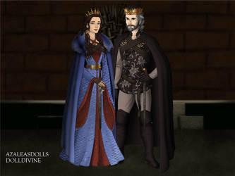 King Bruce I Wayne and Queen Diana Prince-Wayne by John95400