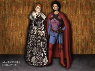 Lord Clark Kent and Lady Lois Lane-Kent by John95400