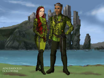 King Arthur I Curry and Queen Mera Cury by John95400