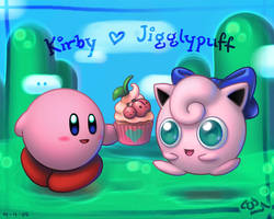 Kirby x Jigglypuff - wallpaper by K-6