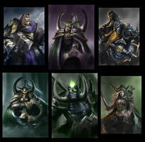 Warcraft Fanart Sketches by NikolaiOstertag